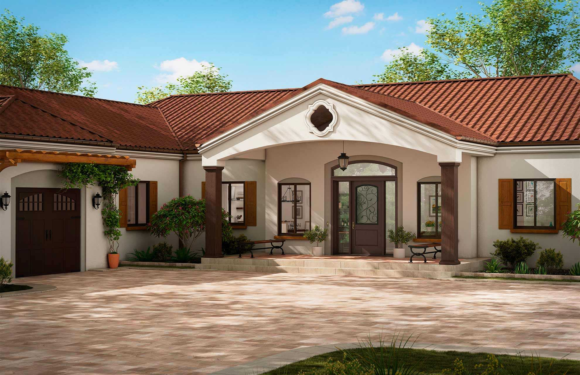 Header Southwestern Home Style Architecture