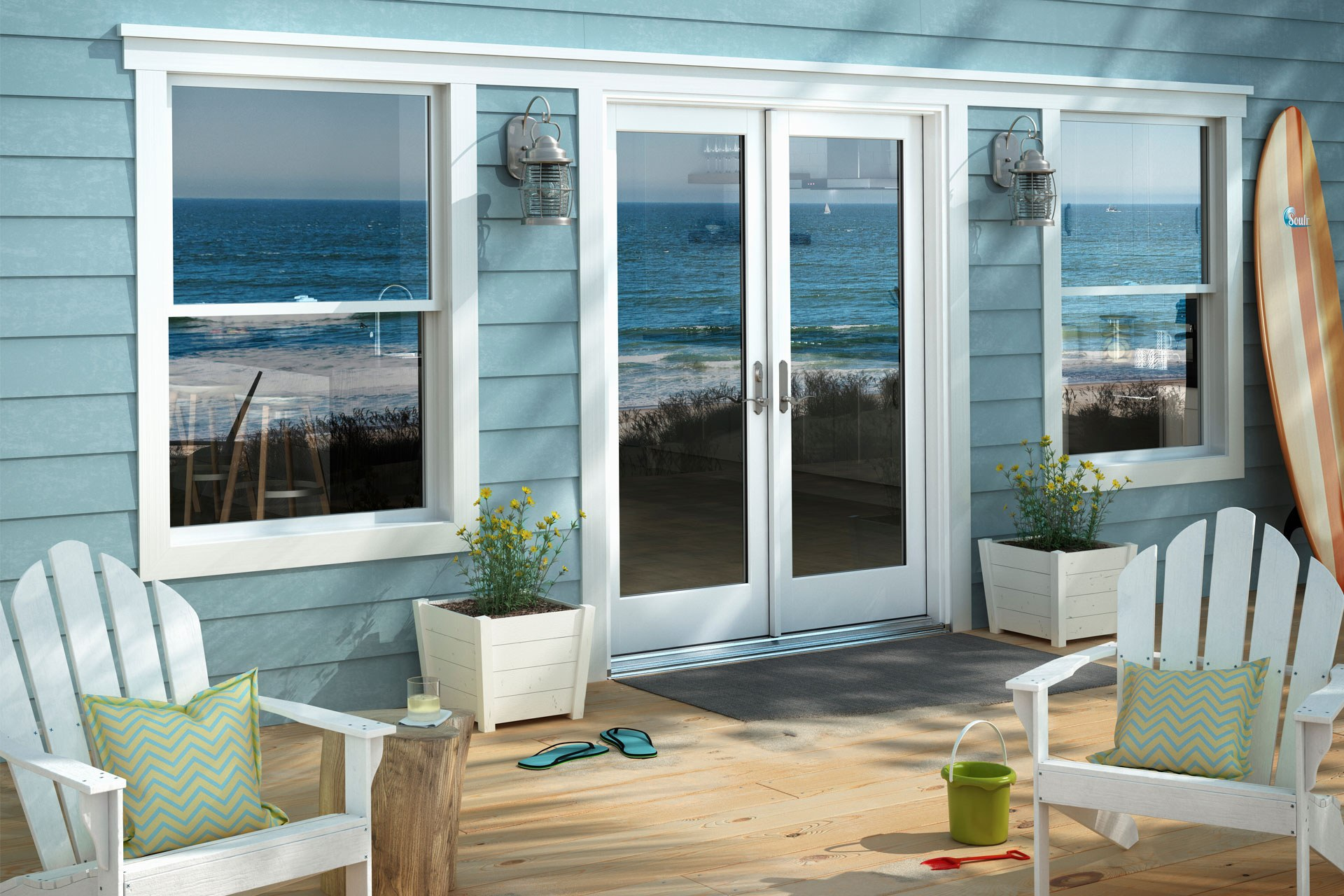 Header Beach House Patio Window World Hero 1980X1280