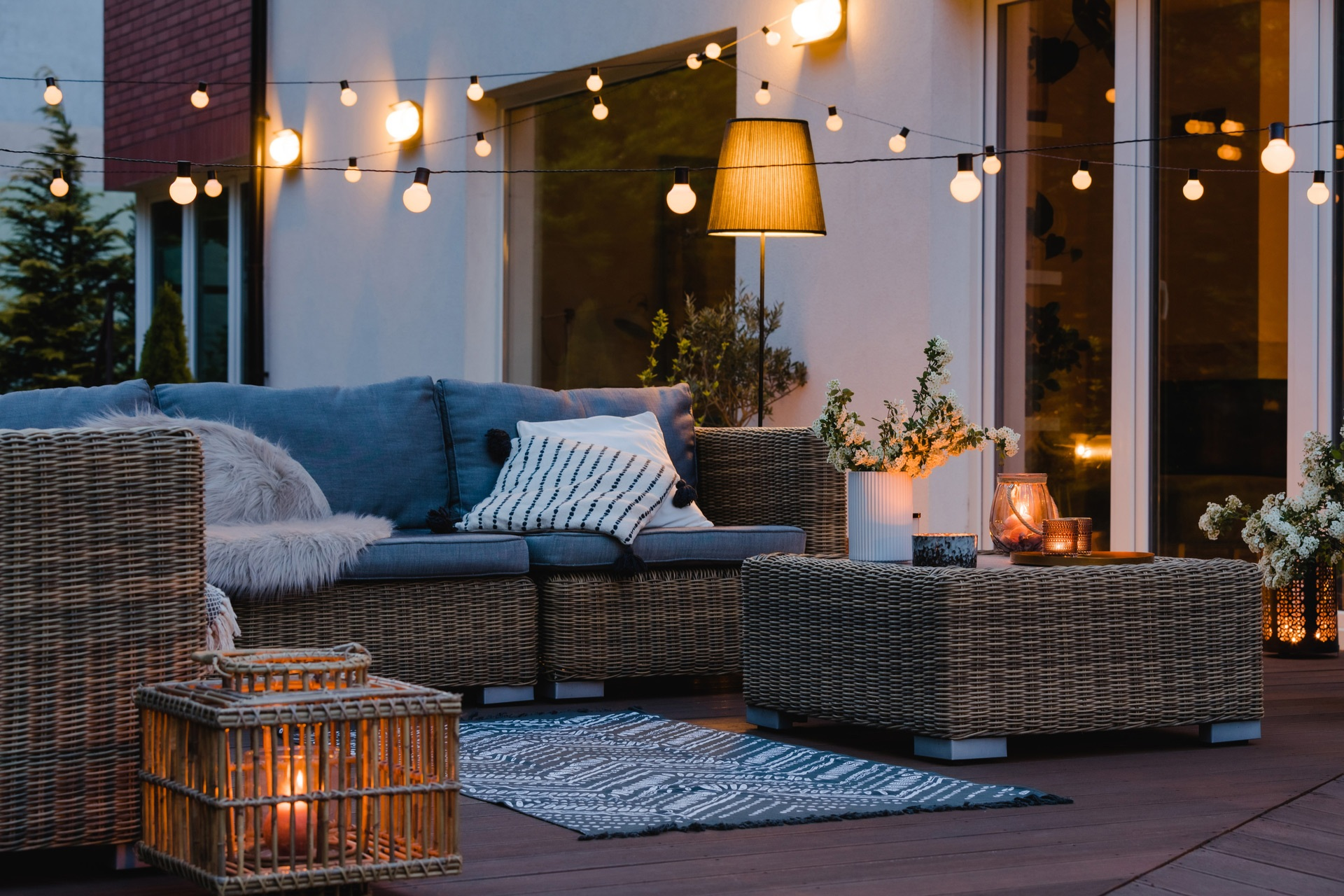 Header Outdoor Living Space With Furniture