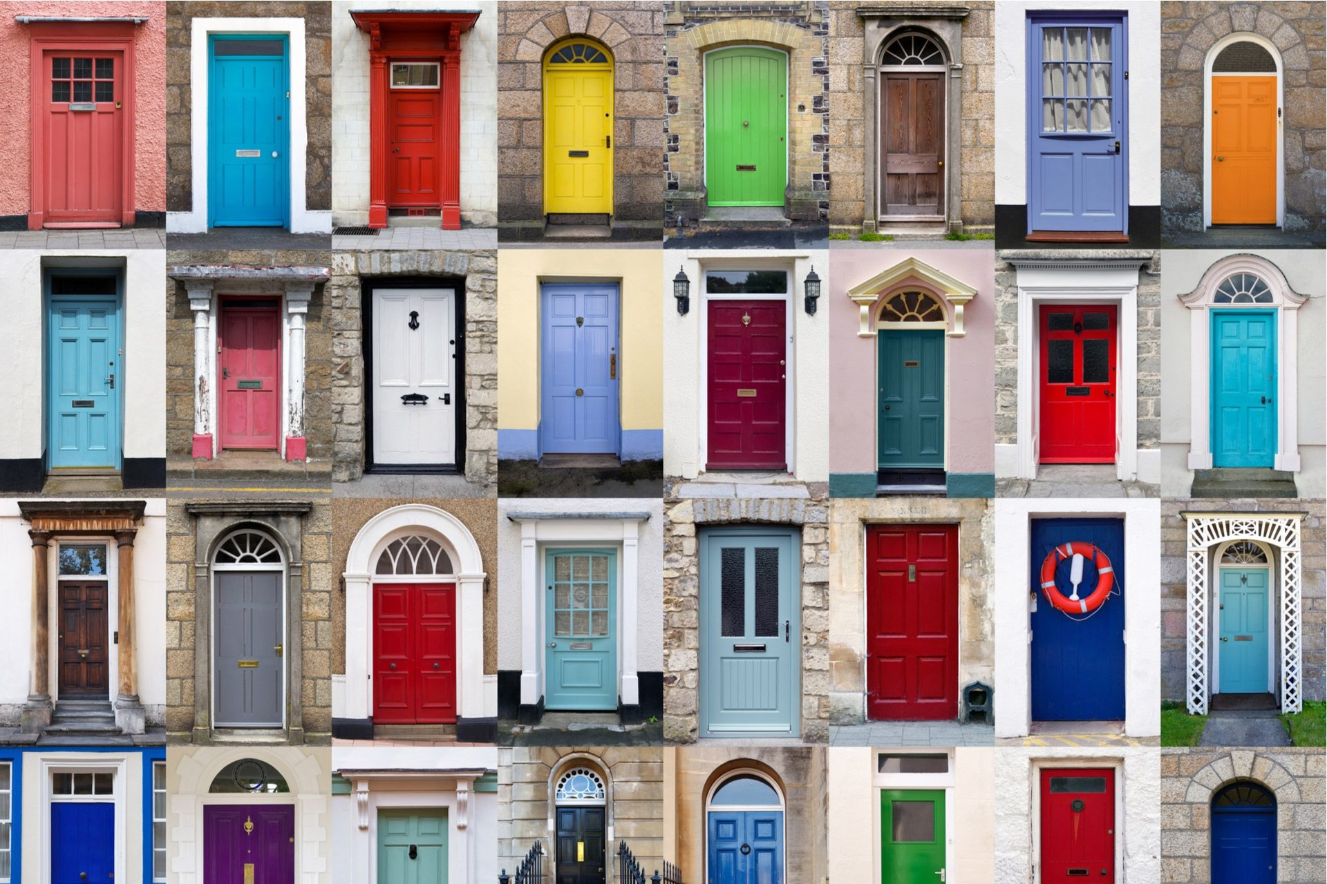 Header Many Colorful Doors