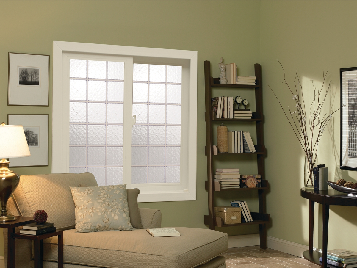A sliding window made with acrylic block