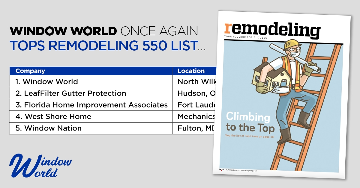 Ranking list from 2020 Remodeling 550