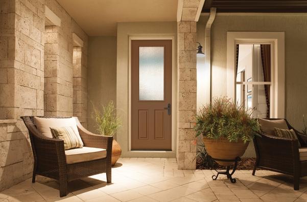 A beautiful tan front door