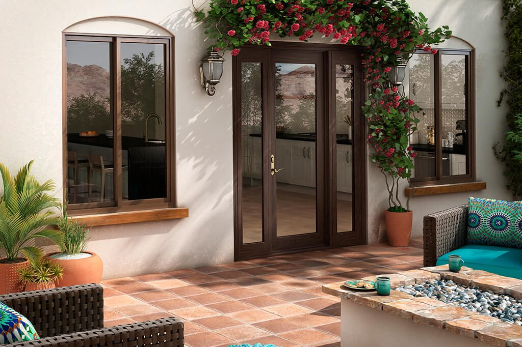 Beautiful plants adorning a back porch space