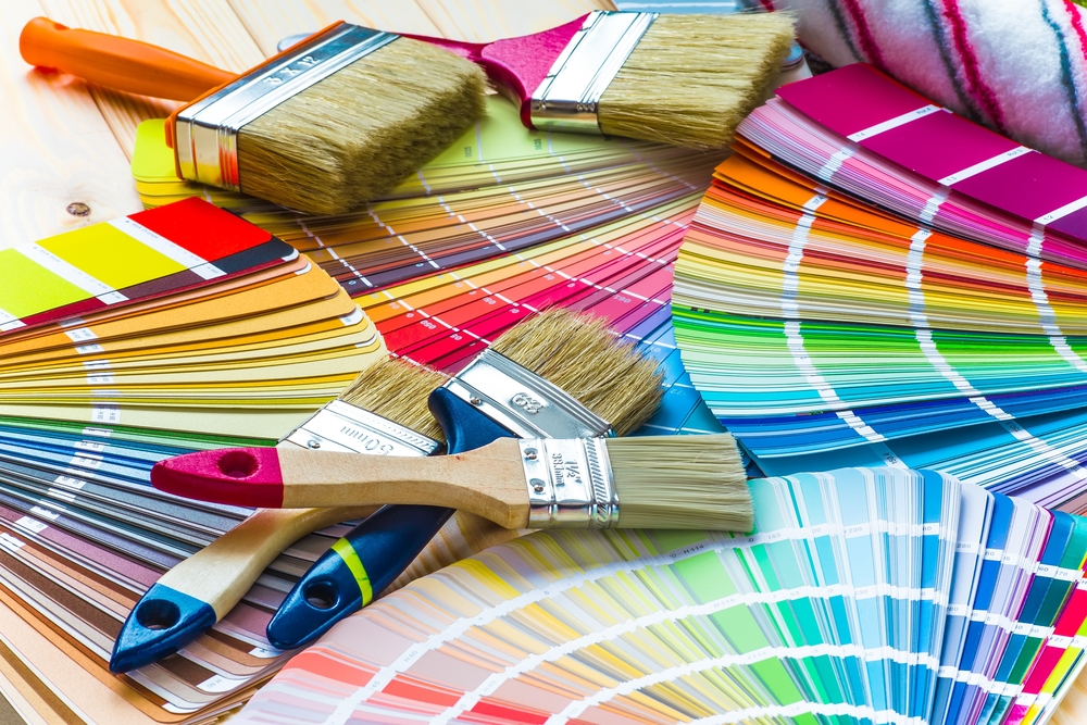 Colorful paint swatches