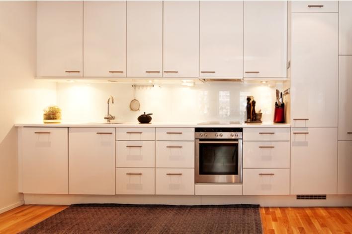 Kitchen with under-cabinet lighting
