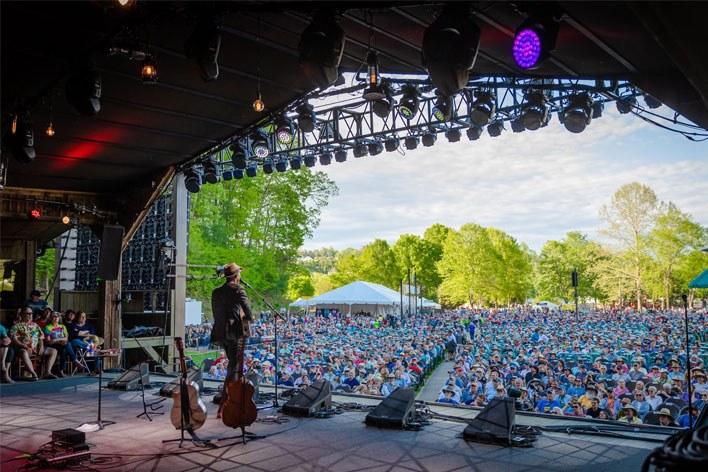 MerleFest music festival Watson Stage view