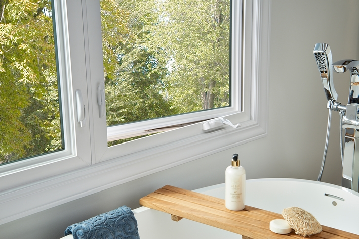 Venting a casement window in the bathroom