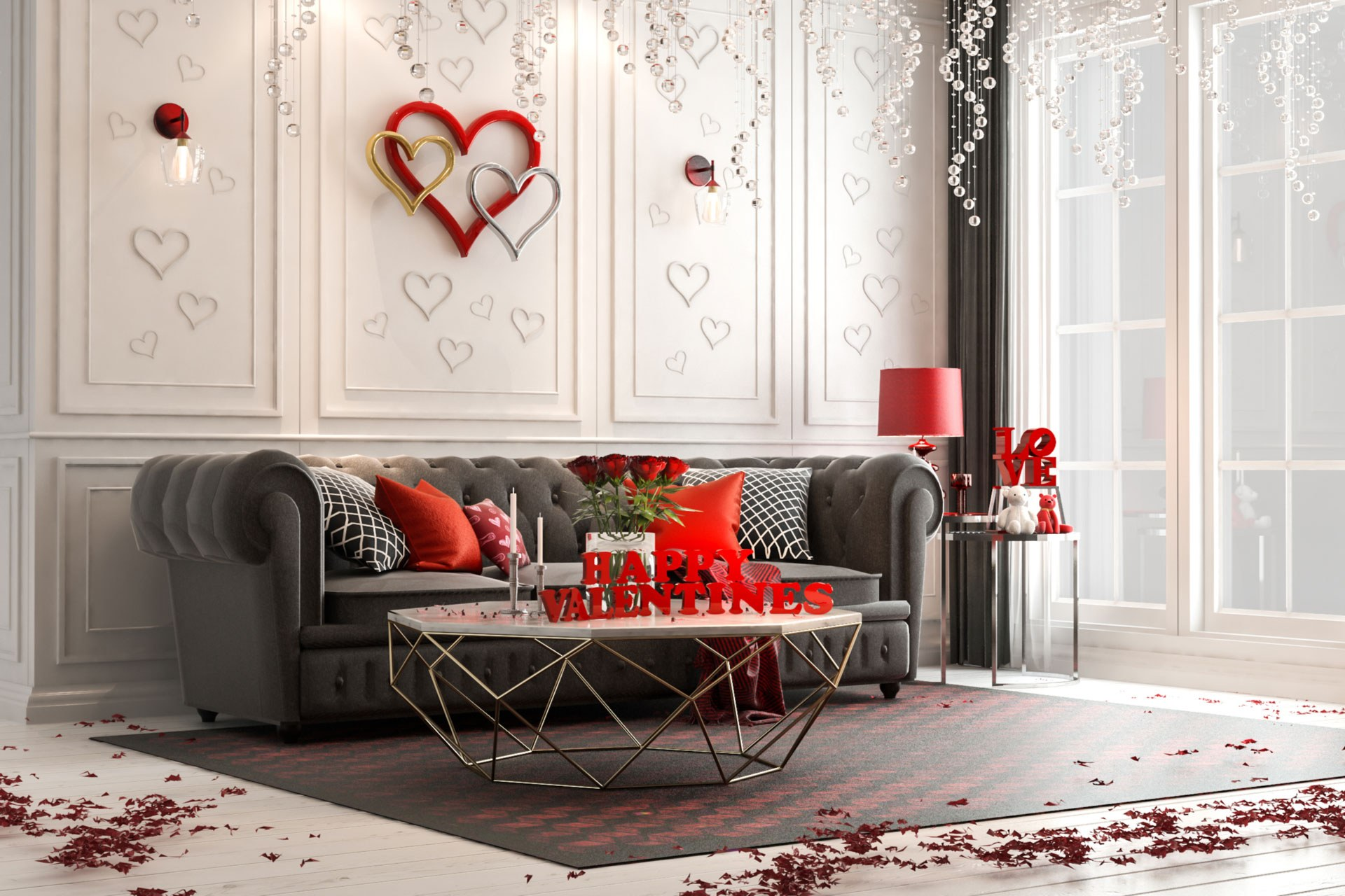 Valentines Day Decor Living Room Web