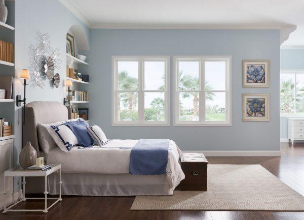Window World 4000 Double Hung Blue Bedroom Lg