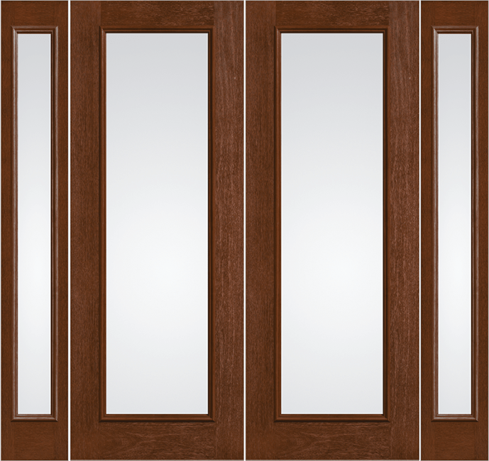 French Doors with Vented Sidelites